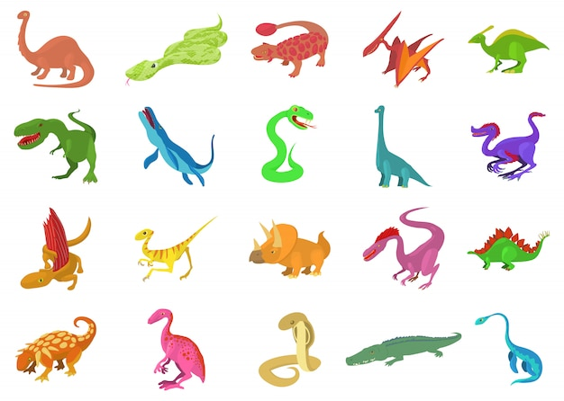 Reptile icon set