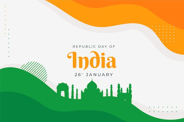 Republic day concept in flat design