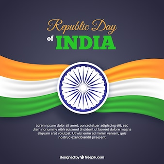 Republic day design with space for text