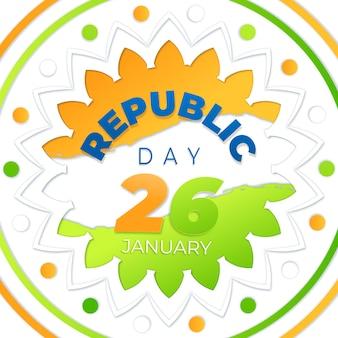 紙のスタイルで共和国記念日