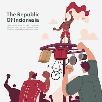 The republic of indonesia independence day celebration