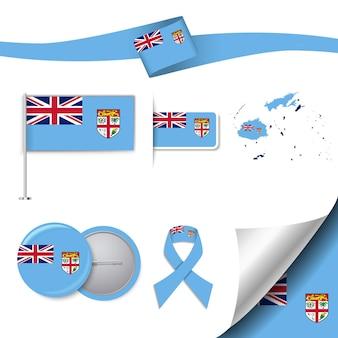 要素を持つフィジー共和国の旗