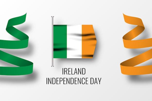アイルランド独立記念日のお祝いのテンプレート