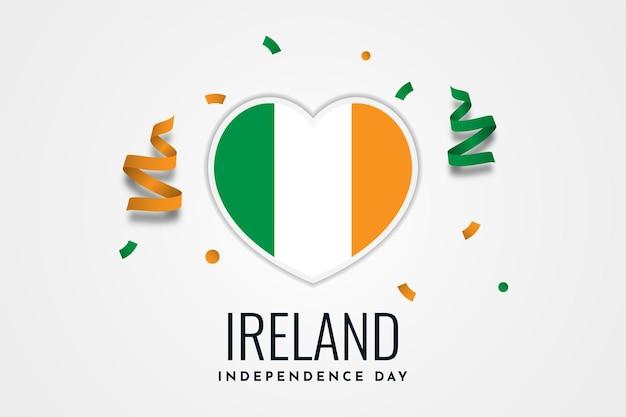 Празднование дня независимости ирландии Premium векторы