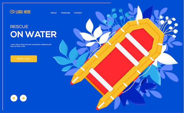Rescue landing page