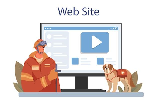Онлайн-сервис или платформа спасателя. срочная помощь. спасатель скорой помощи