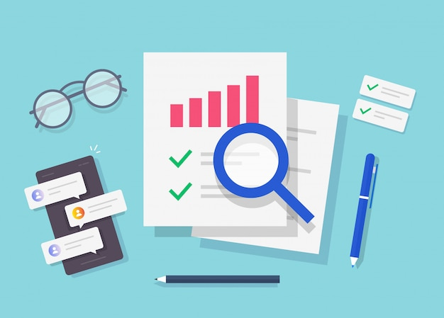 Research of audit report workplace