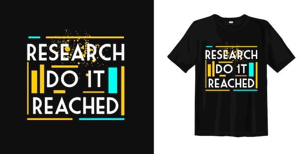 研究は到達しました。 tシャツ