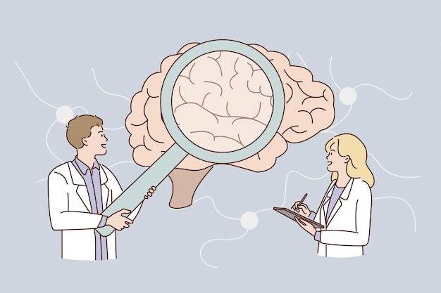 Research of human brain concept