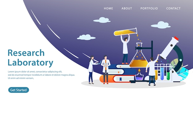 Research laboratory landing page