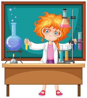 Исследователь эксперимент в лаборатории