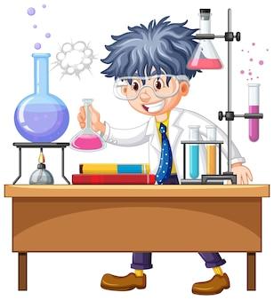 研究室での研究者実験 Premiumベクター