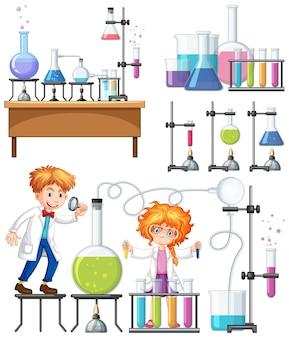 실험실에서 연구원 실험