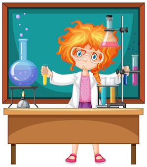 Ricercatore esperimento in laboratorio