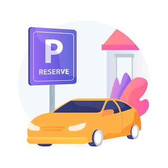 Reserve parking space for curbside pickup abstract concept   illustration. customer walk in, pickup station, customers arrival, keep employees safe, small business