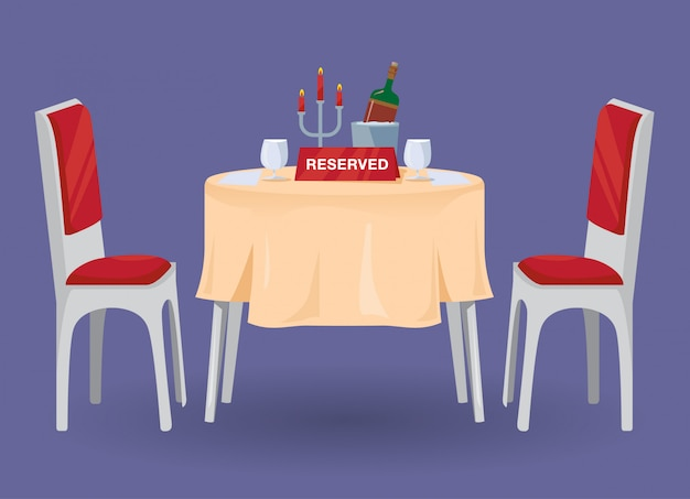 Reserved table for two illustration