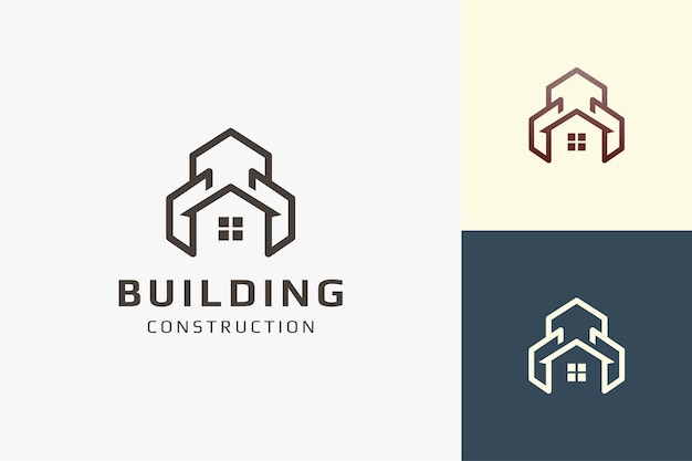 Residence or apartment logo in simple shape for real estate business