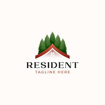 Resident real estate logo template