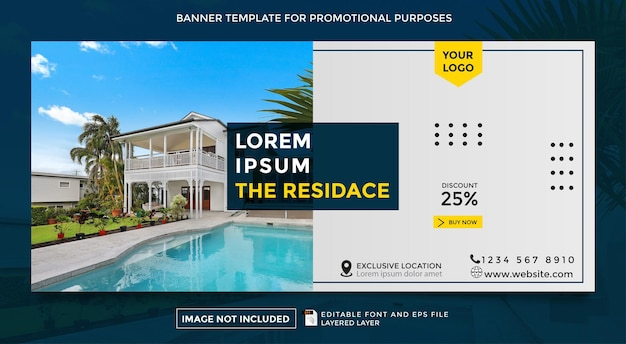 Шаблон рекламного баннера для продажи жилого района