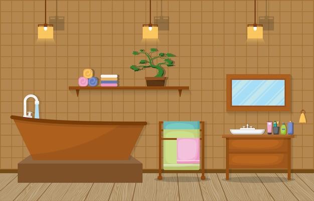 Residential furnished bathroom