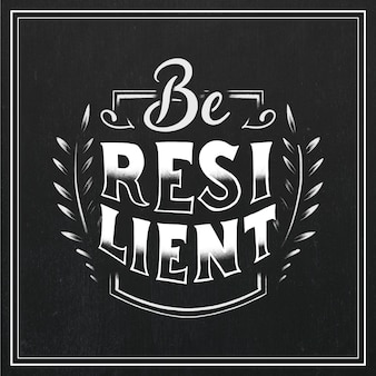 Resilience lettering