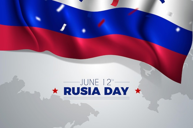 Reslistic russia day concept