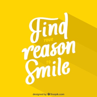 Reson to smile background