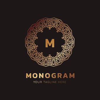 Роскошный логотип. логотип гребней. дизайн логотипа для отеля, resort, restaurant, real estate, spa, fashion brand identity