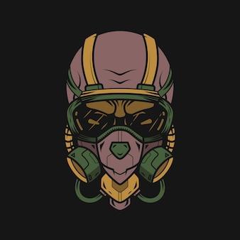호흡기 마스크 티셔츠 디자인