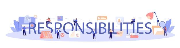 Responsibilities typographic header