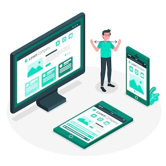 Responsive concept illustration