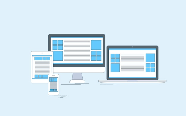Responsive design laptop phone tablet desktop device screen