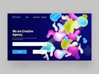 Responsive landing page for website or mobile app