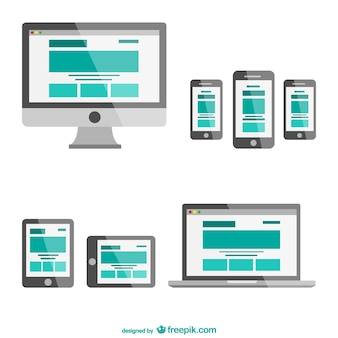 Responsive web design in different electronic devices