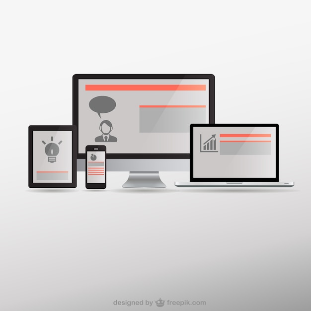 Free Responsive Web Design Electronic Devices Svg Dxf Eps Png Cut File Vectors Photos And Psd Files Free Download