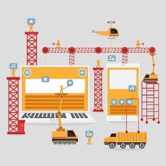 作成のためのレスポンシブウェブエンジニアのインターフェース要素