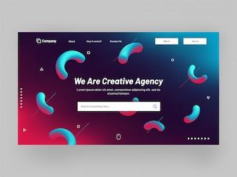 レスポンシブなウェブサイトのバナーまたはリンク先ページのデザイン