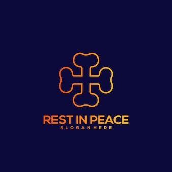 평화 라인 디자인 빈티지 일러스트에서 휴식