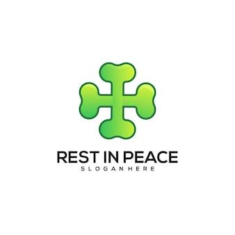 평화 로고 다채로운 그라데이션에서 휴식