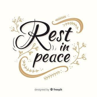 Riposa in lettere di pace
