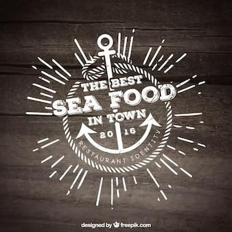 Шаблон еды restauran море