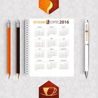 レストラン2016年カレンダー