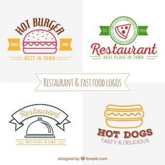 Ресторанов и фаст-фуд логотипы