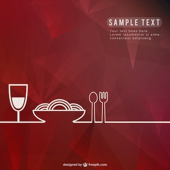 Restaurant background template
