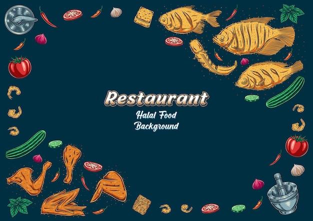 レストランのバナーの背景