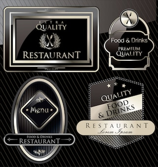 Restaurant banner luxury