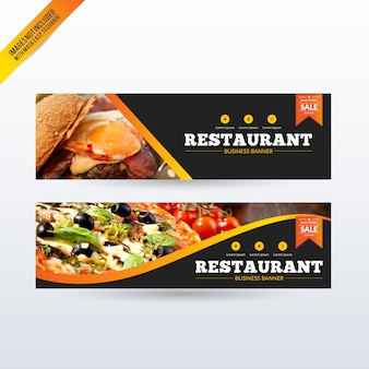 Restaurant banners set