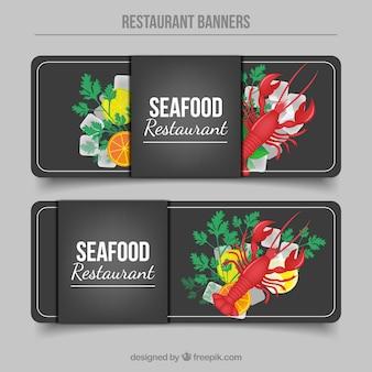 해산물 레스토랑 배너