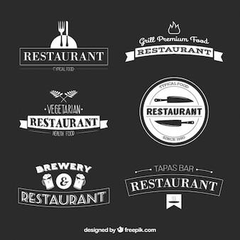 Restaurant bar logo collection Premium Vector