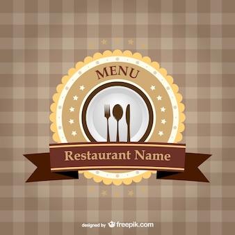 レストランのブランドのリボンテンプレート